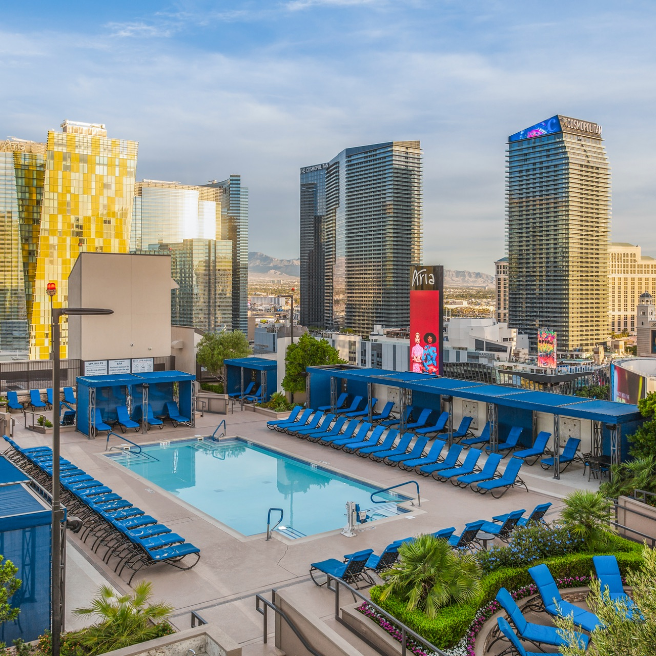 Polo Towers rooftop pool in Las Vegas