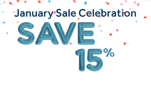 15% Off During our January Sale