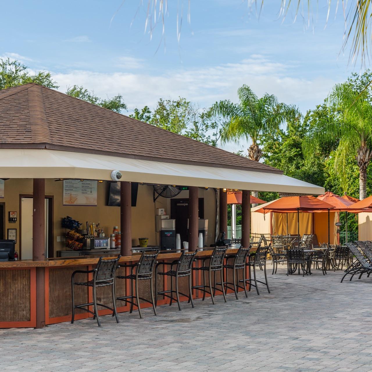 Mystic Dunes outdoor resort area