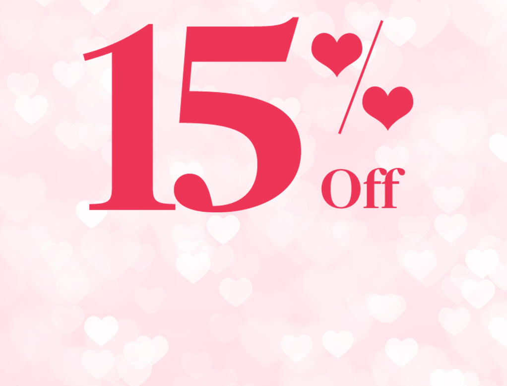 Valentine's Day Deal 15% Off