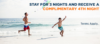 Stay 4 nights for the price of 3 nights