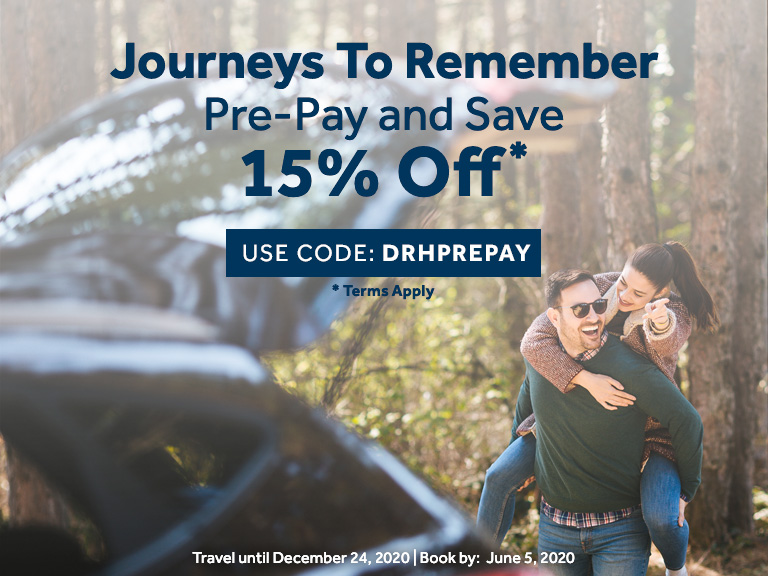 Pre-Pay and Save: 15% off BAR